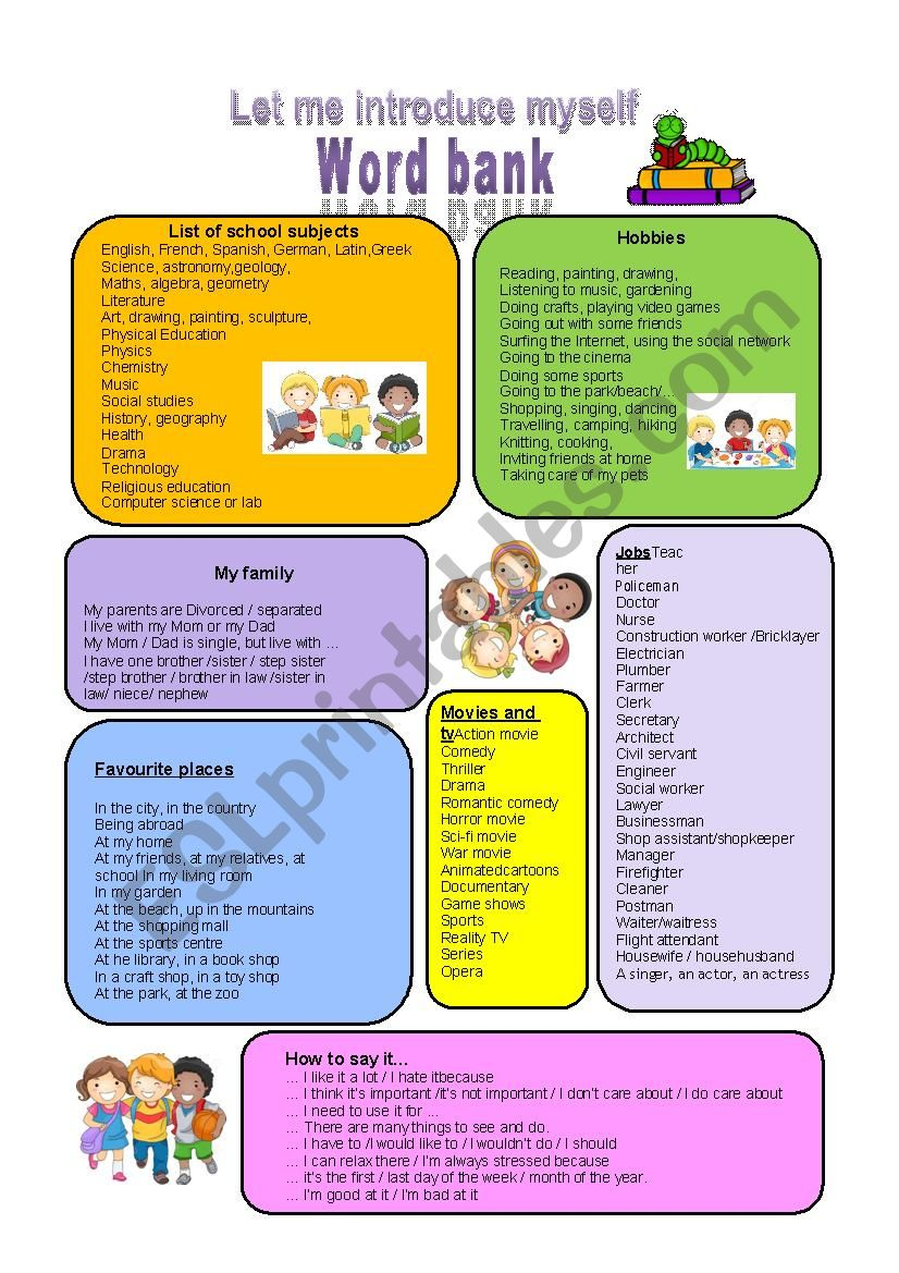 Introduction for kids and teens
