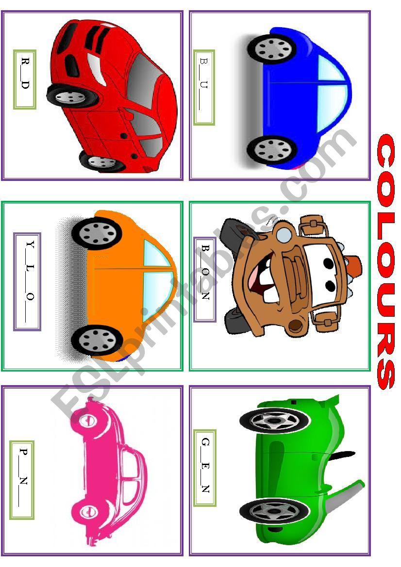 COLOURS - FLASHCARS worksheet