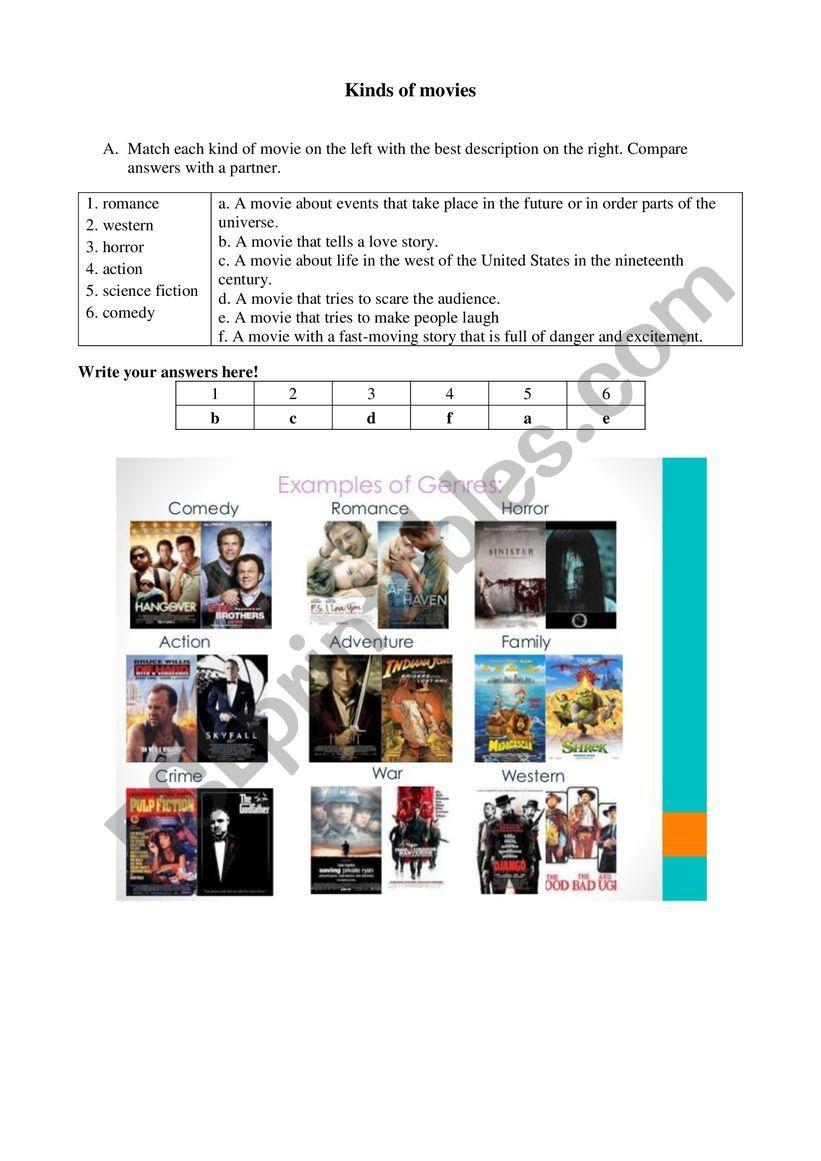 Movie reviews - ESL worksheet by ishaaditidhar