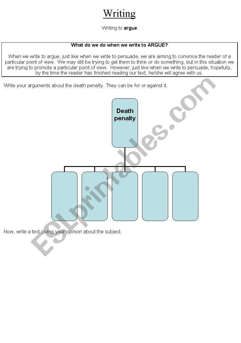 Argue worksheet