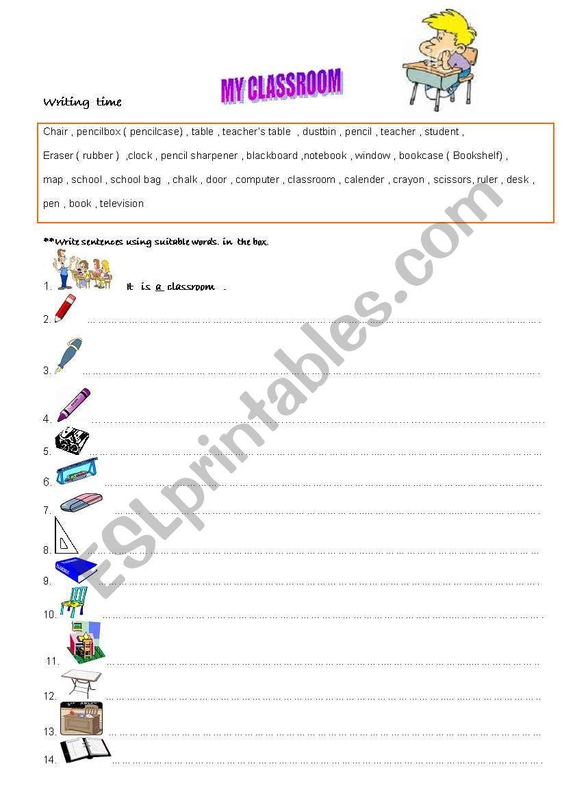 classroom - school objects 12.08.08