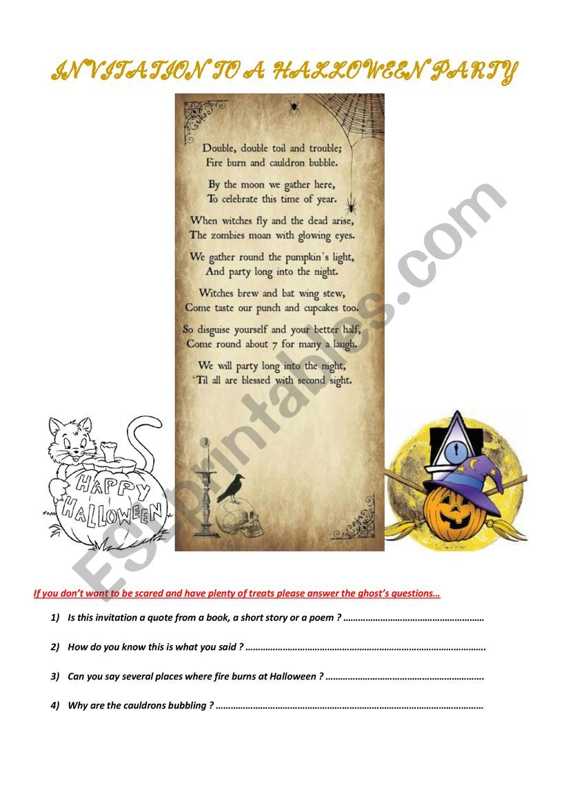 Halloween 2018 - Exercises for very advanced students or adults.