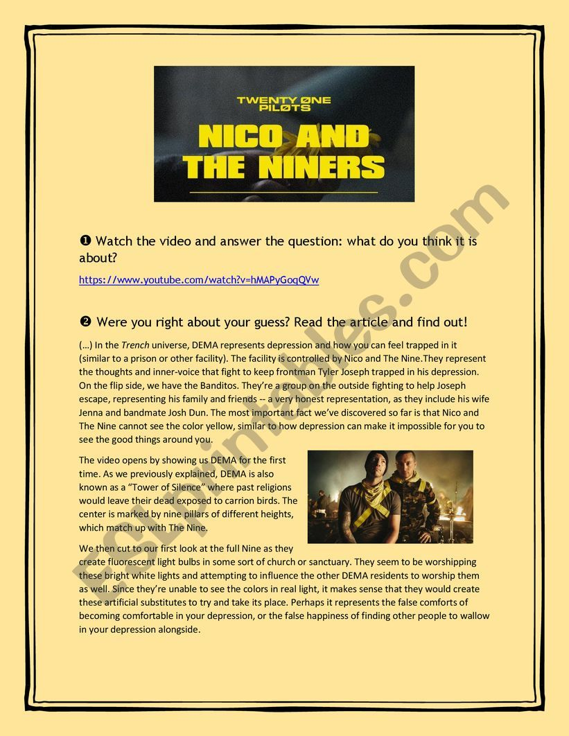 Twenty One Pilots Nico And The Niners Video Reading And Song