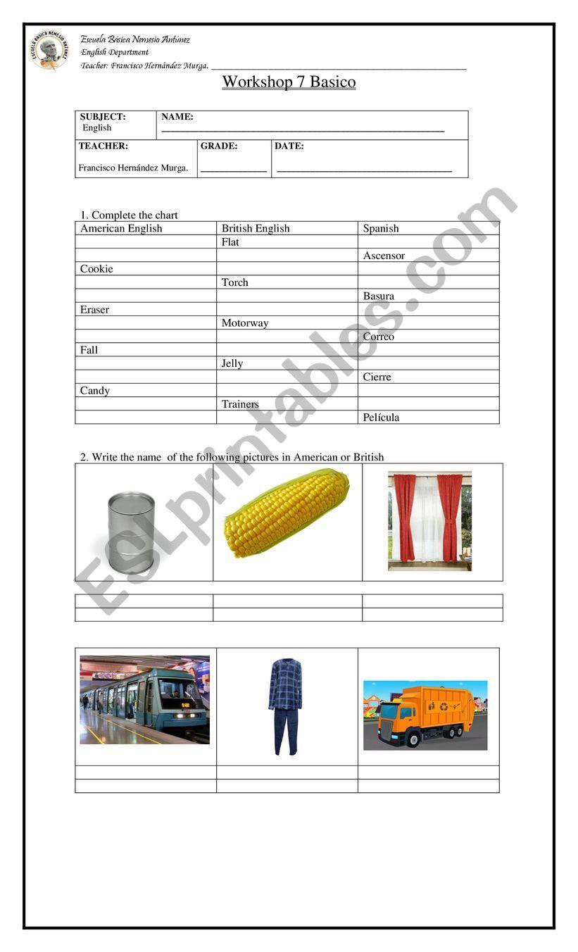 worksheet 1 worksheet