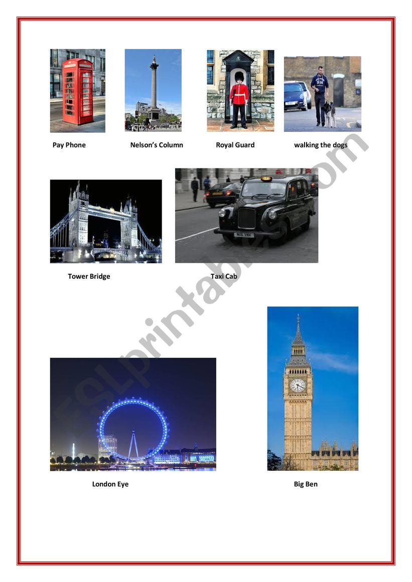 LONDON WONDERS worksheet