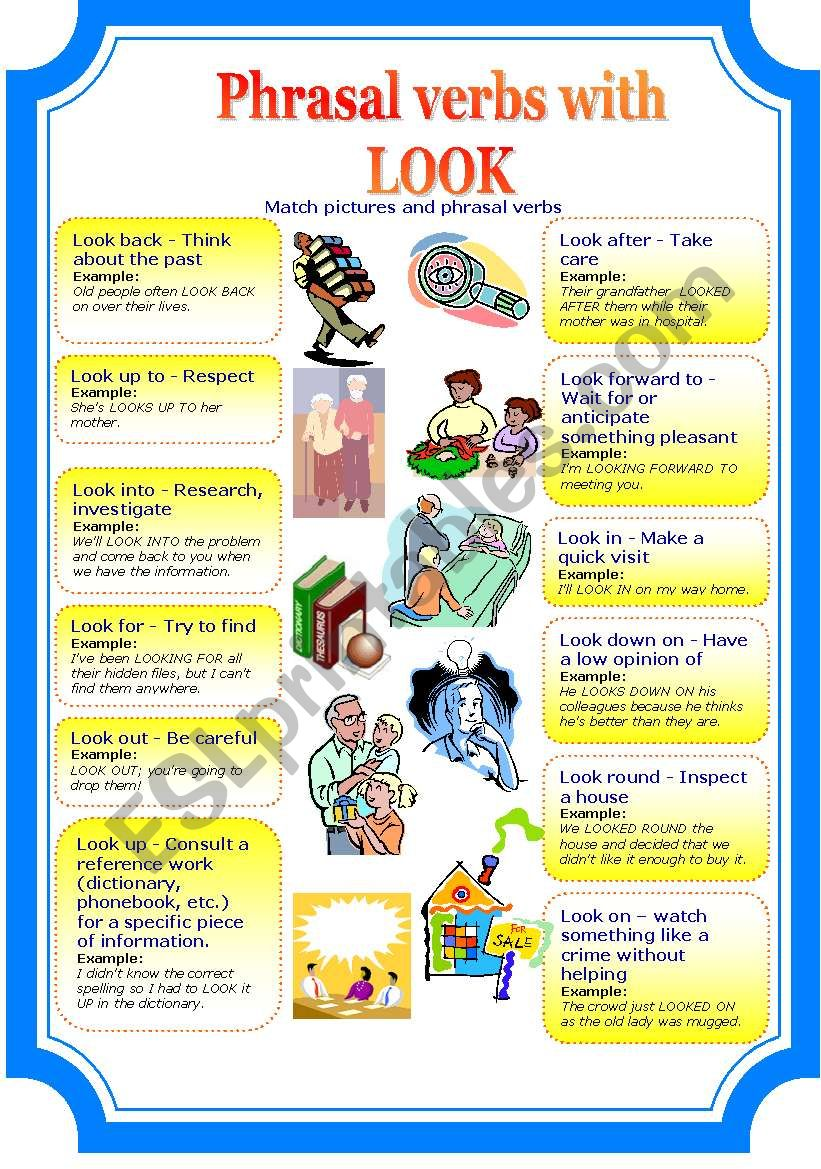 phrasal verbs with look (2 pages)
