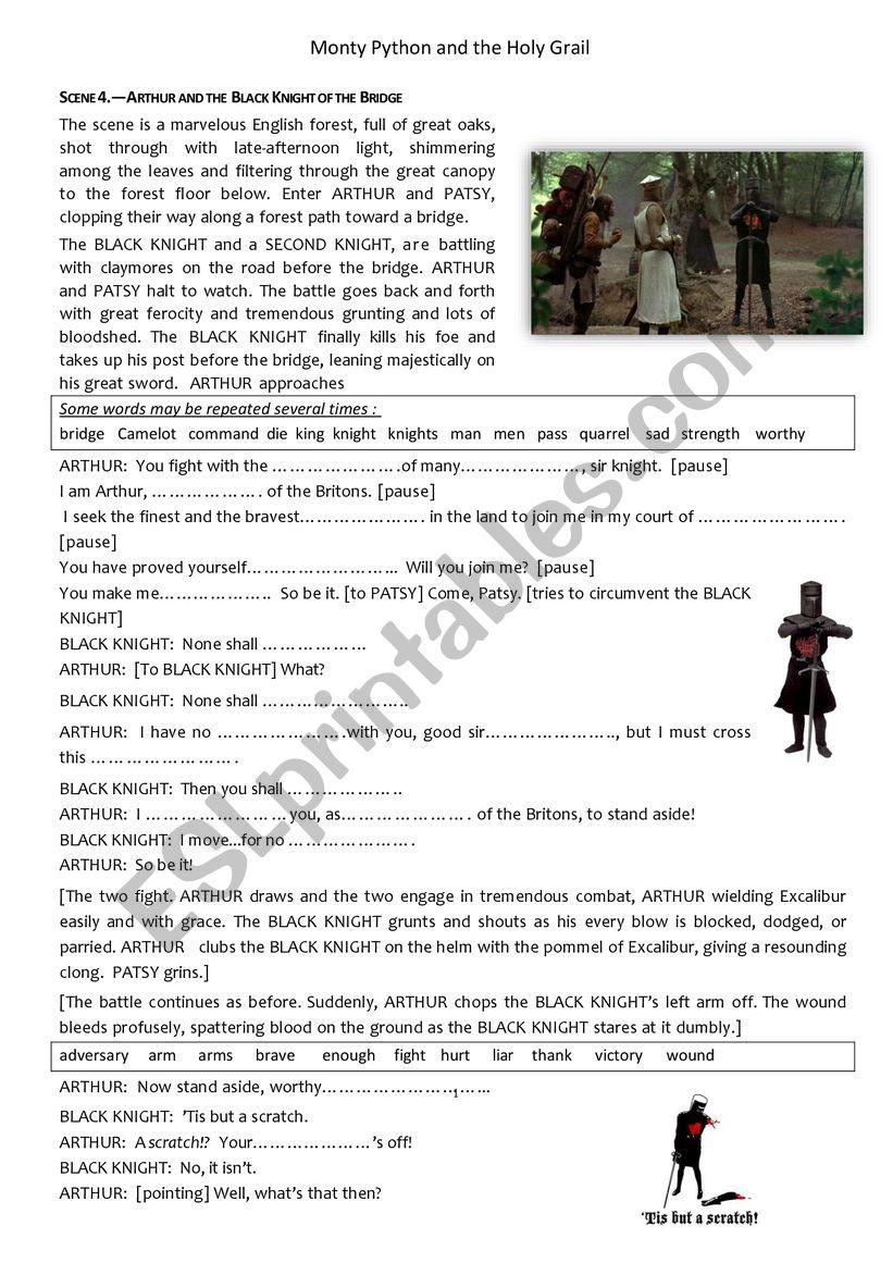 Monty Python  The Black Knight episode