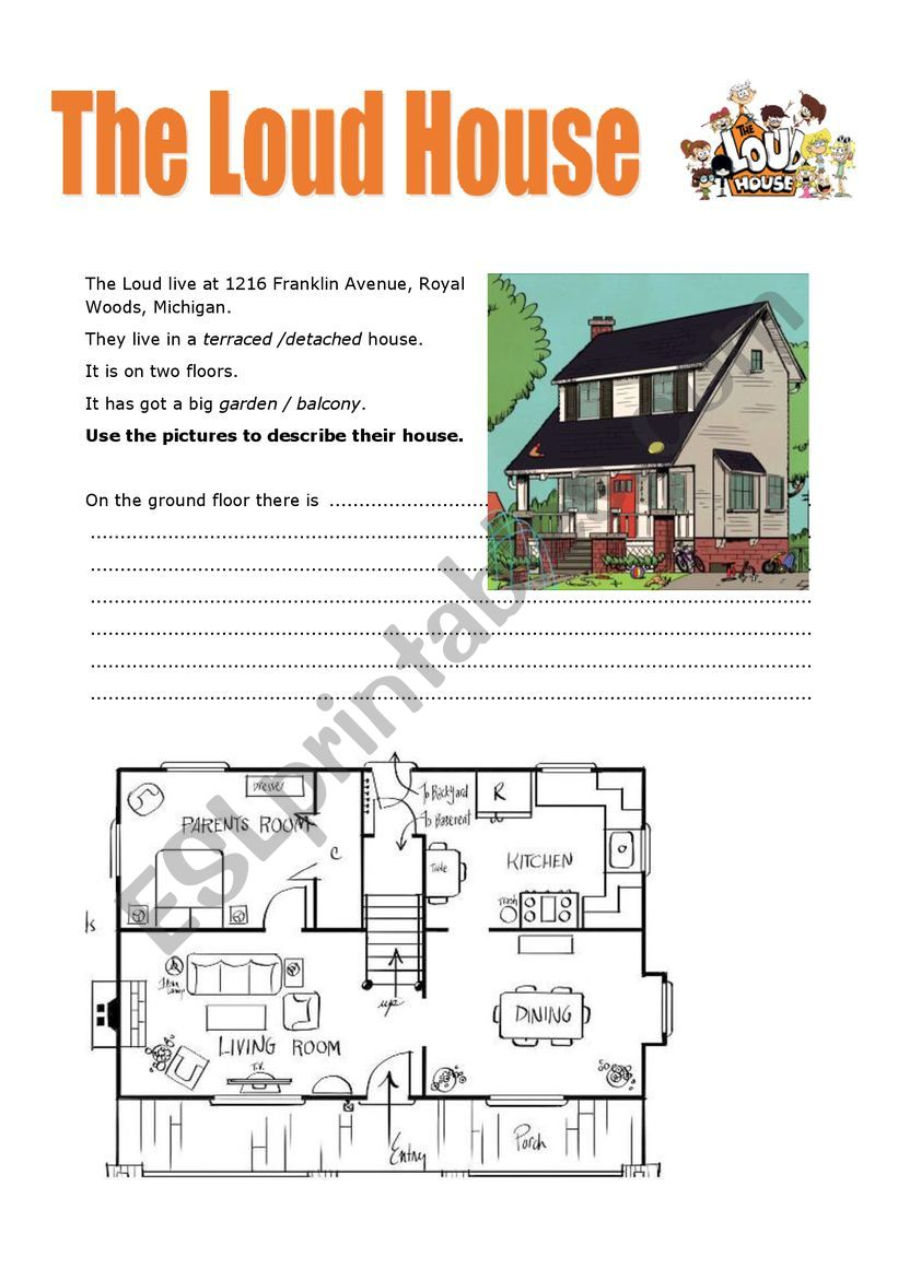 The Loud House home worksheet