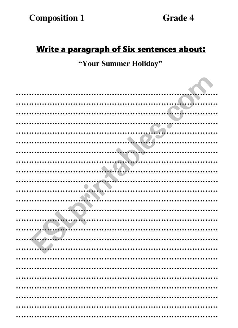 composition worksheet