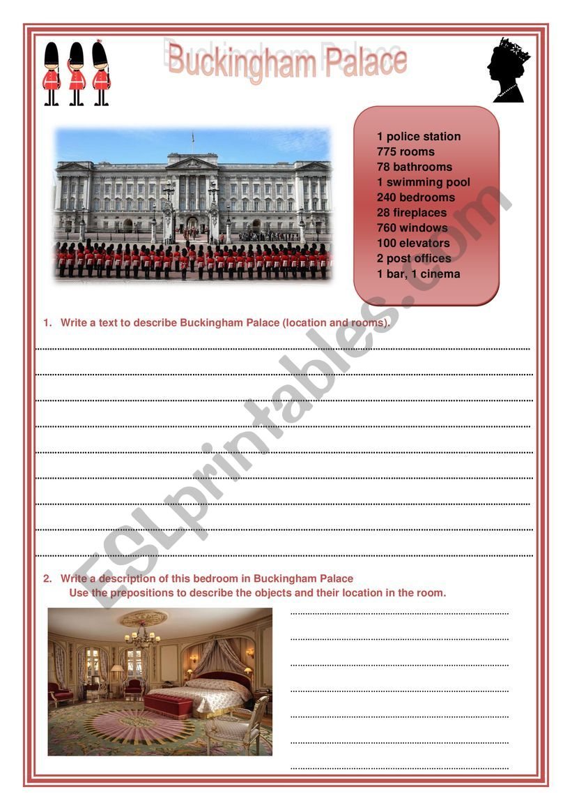 Worksheet Buckingham Palace worksheet