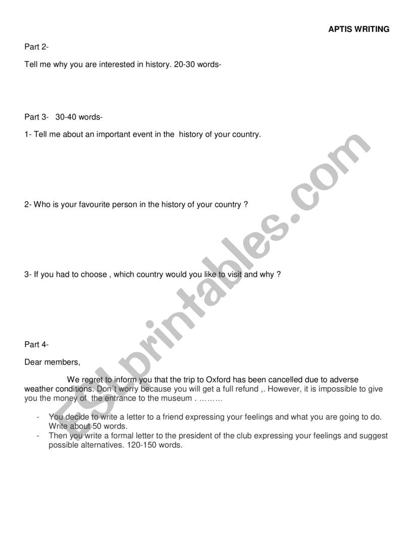 aptis reading practice test
