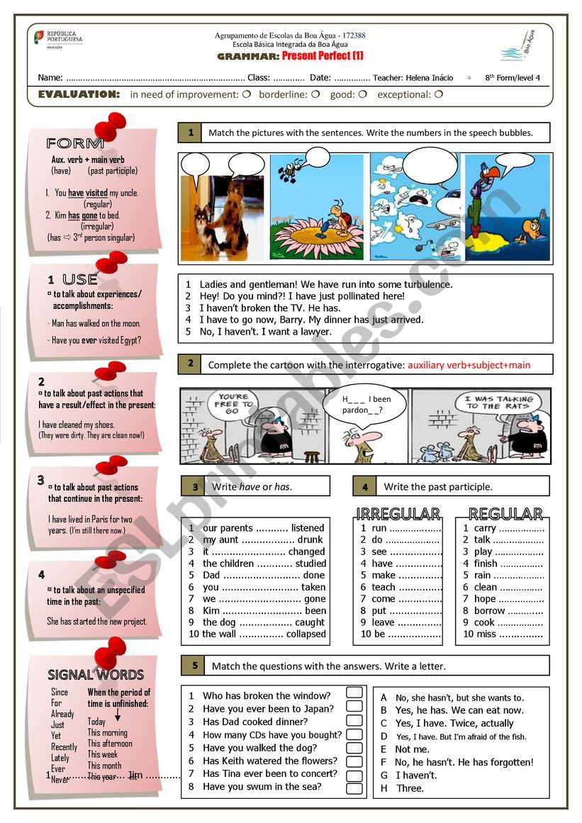 Present Perfect (part 1) worksheet