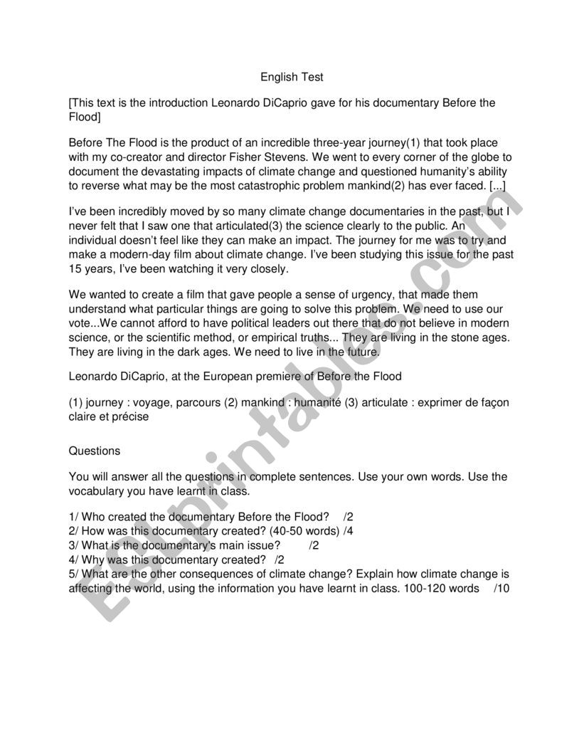 45++ Before the flood worksheet answers pdf For Free