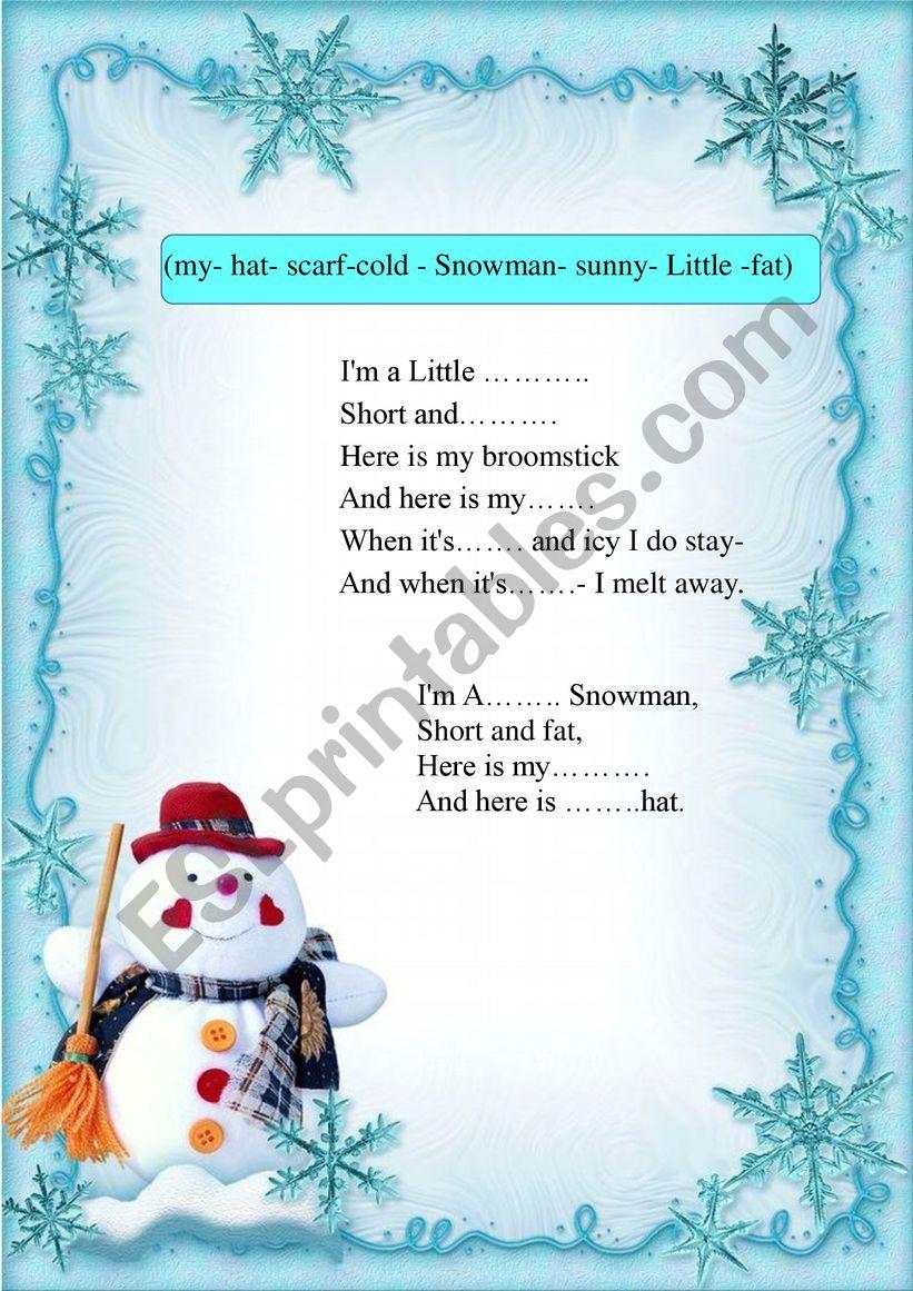 Children Christmas Poem.A Christmas Poem For Children Esl Worksheet By Nadezhda F