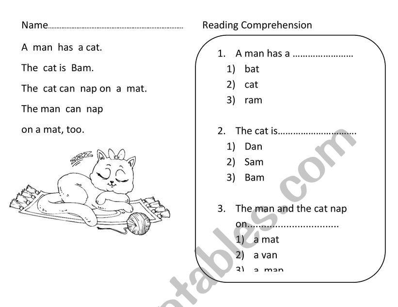 Reading Comprehension For Phonics - ESL Worksheet By Nutcharat