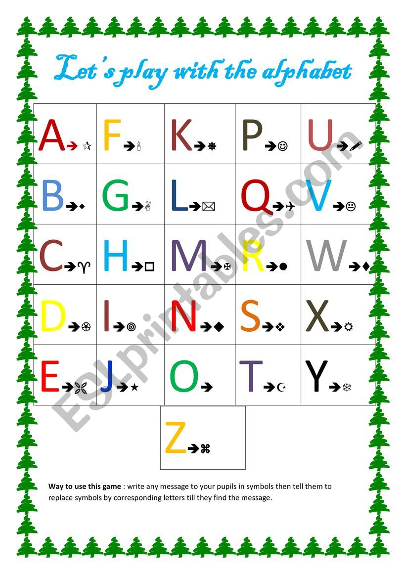 let´s play with the alphabet worksheet