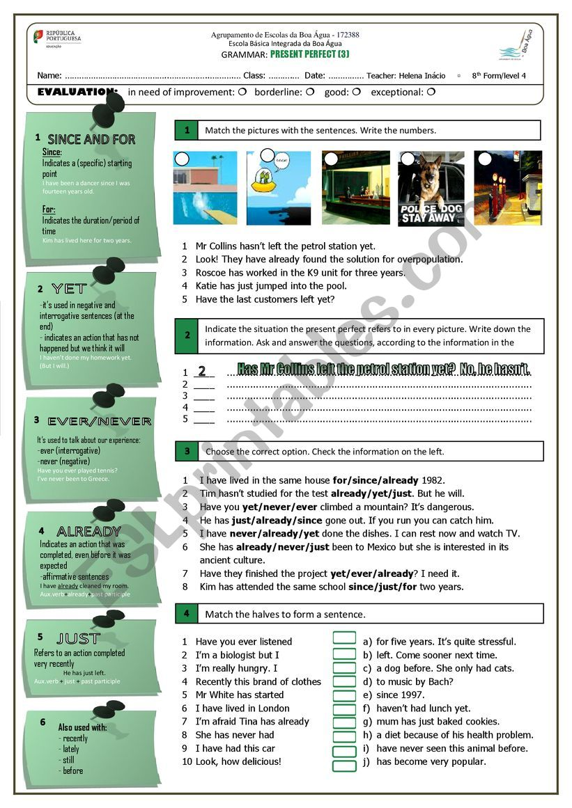 Present Perfect (3) worksheet