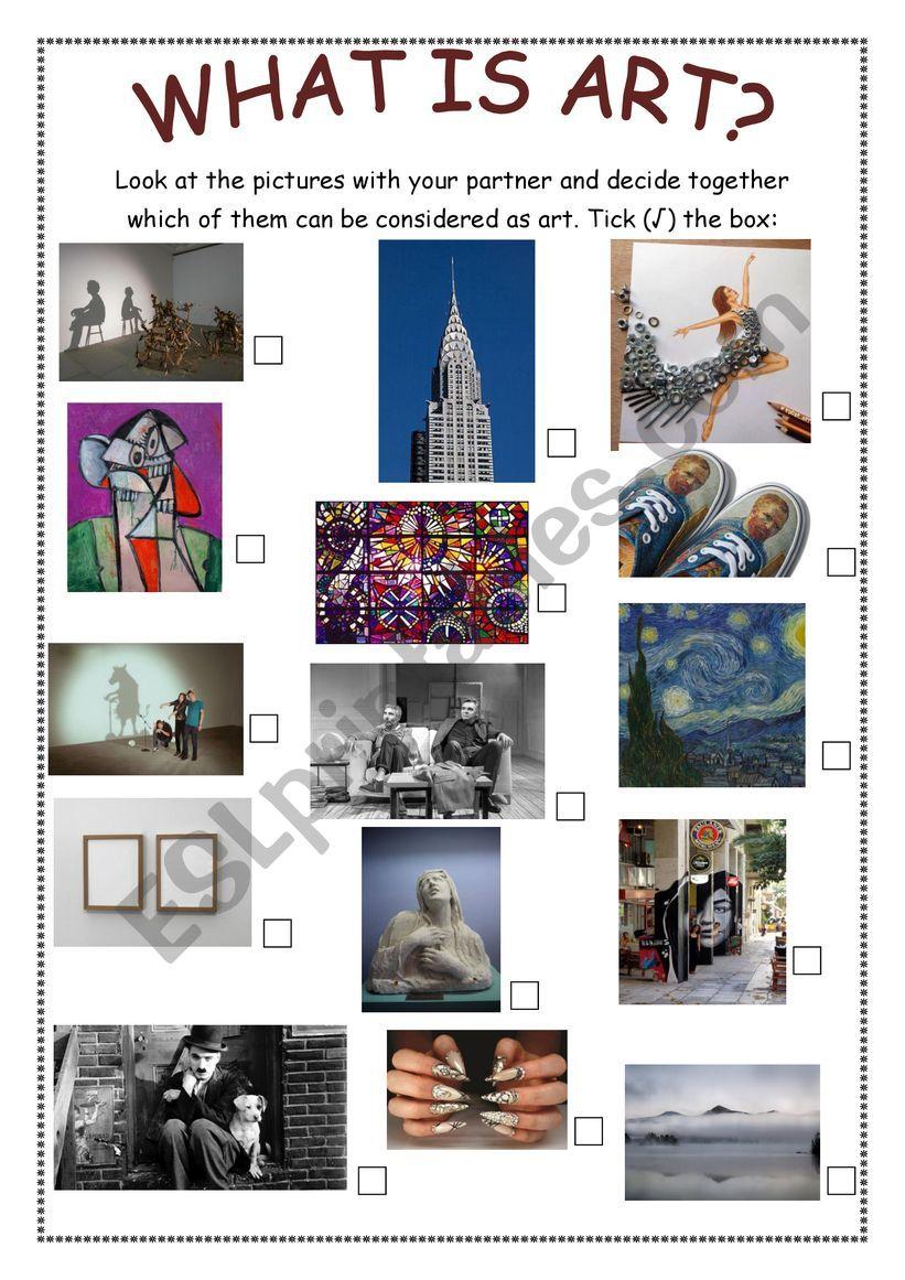 What is Art? part 1 worksheet