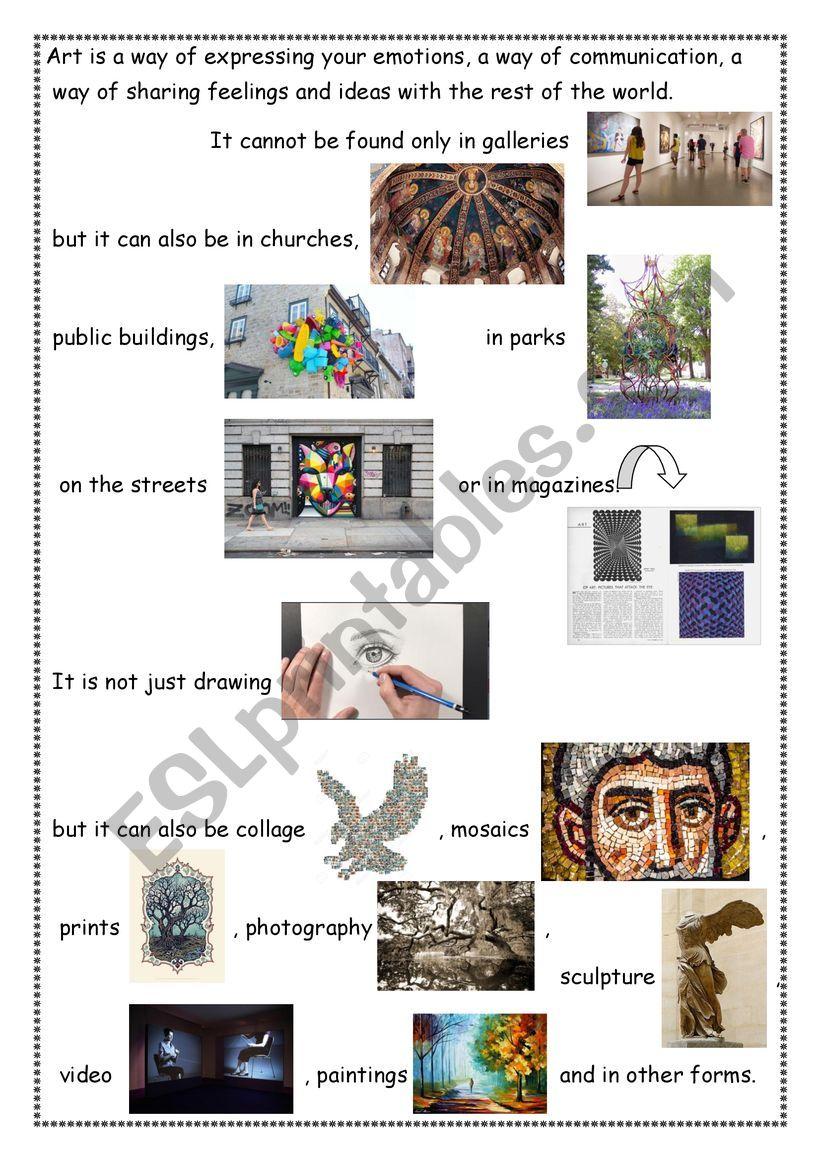 What is Art? part 2 worksheet