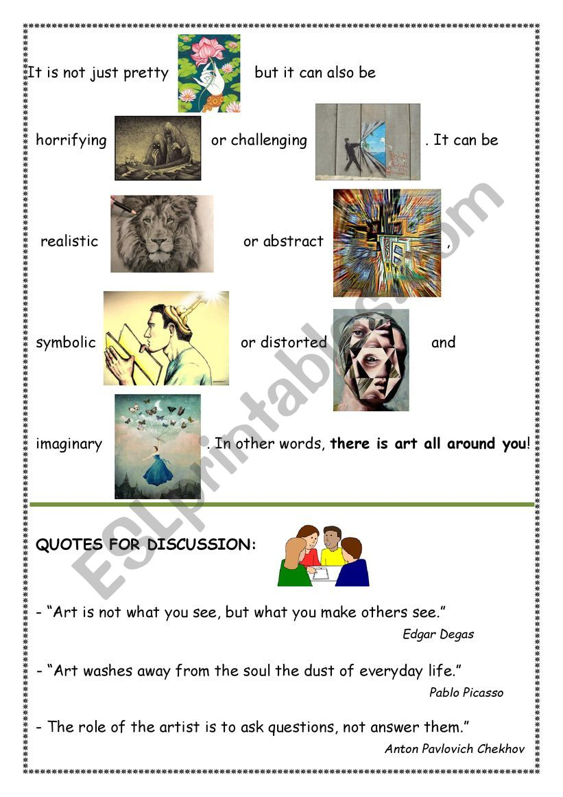 What is Art? part 3 worksheet