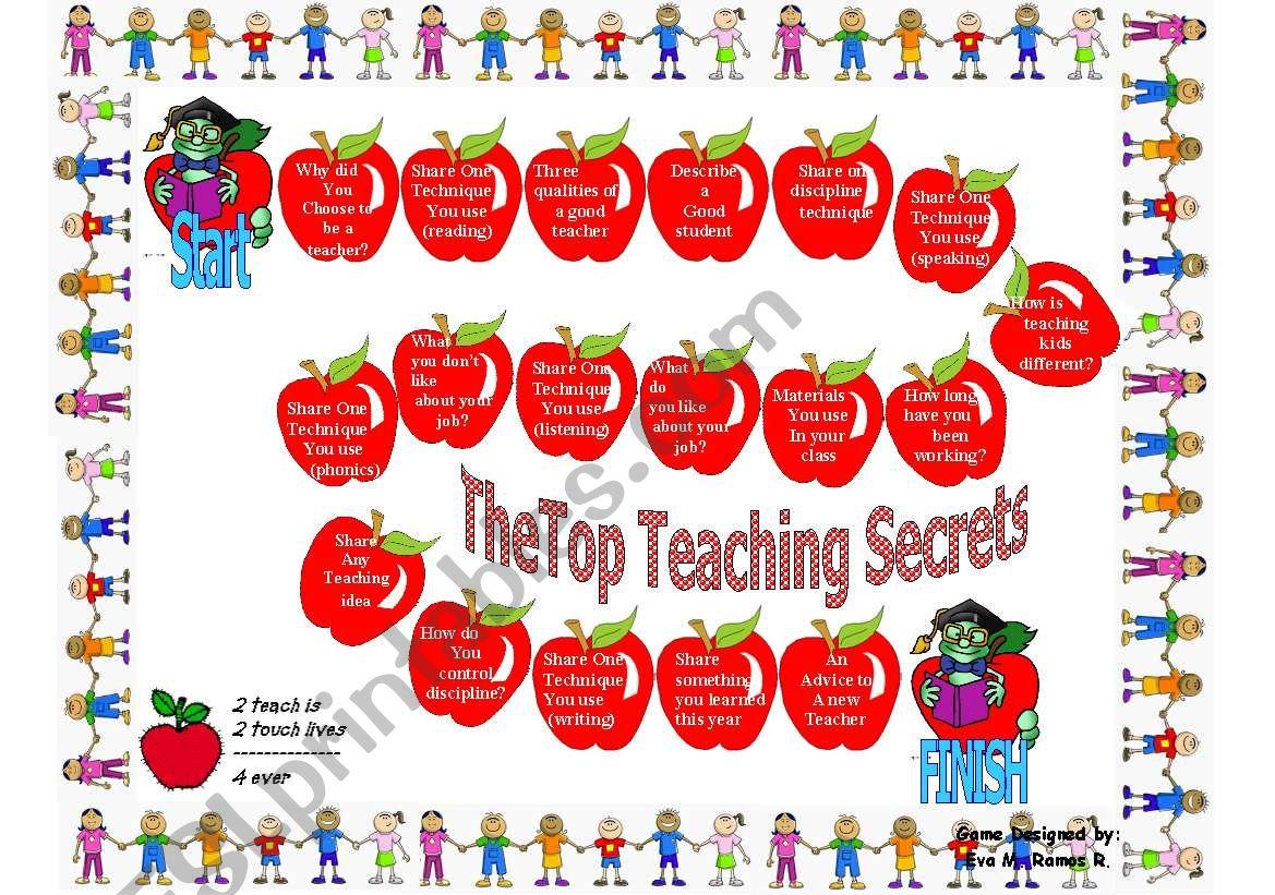 The teacher game worksheet