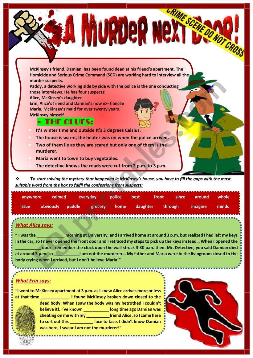 MYSTERY TEASER  worksheet