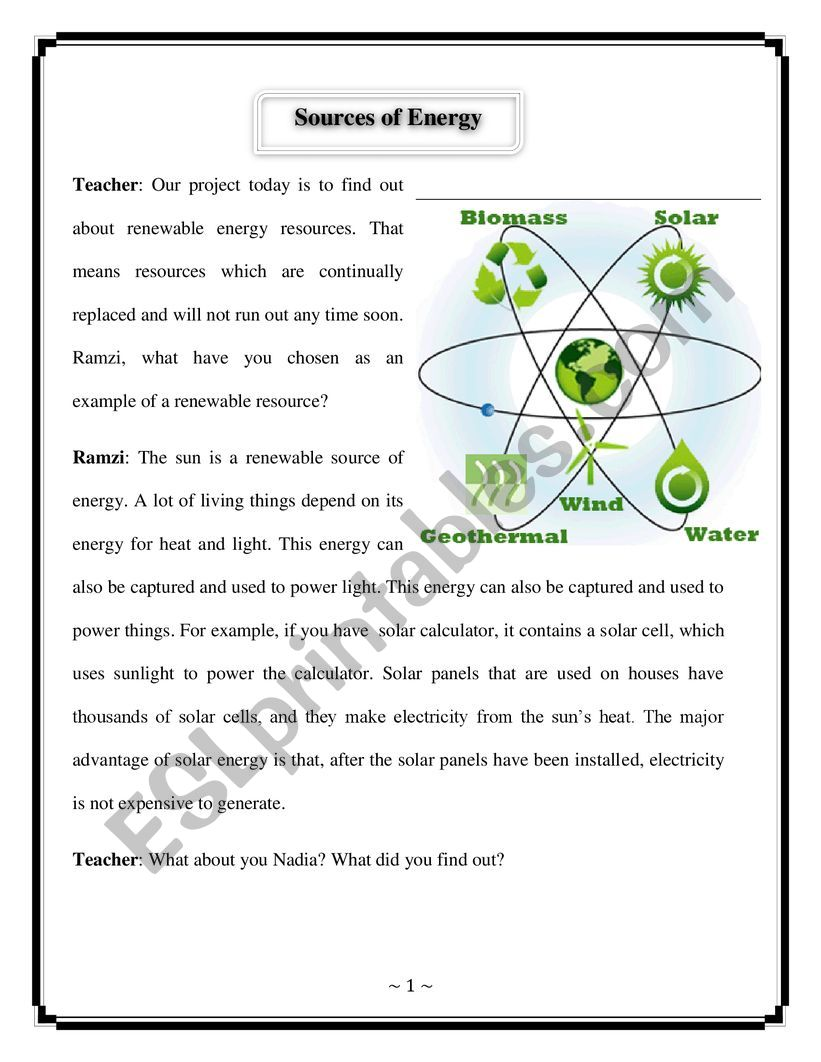 renewable energy sources worksheet