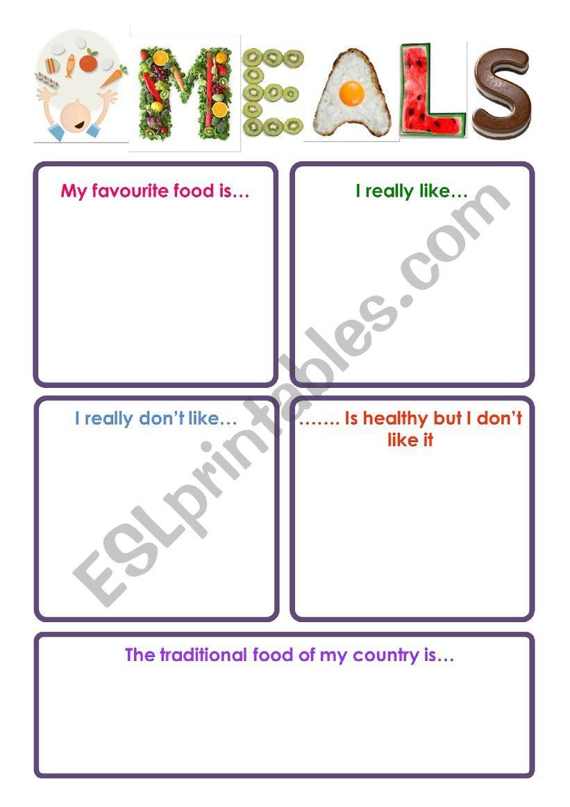 My favourite food worksheet