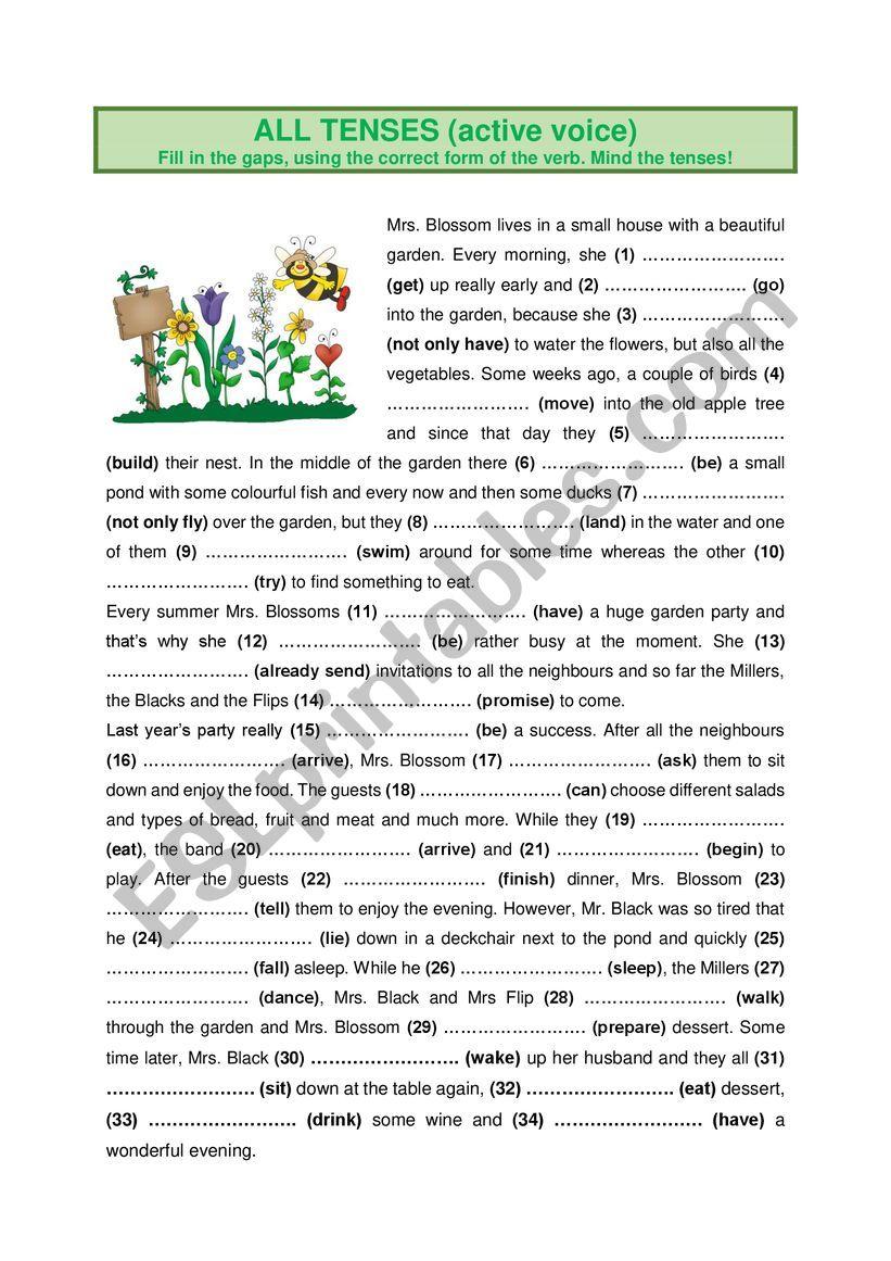 All Tenses (17) worksheet