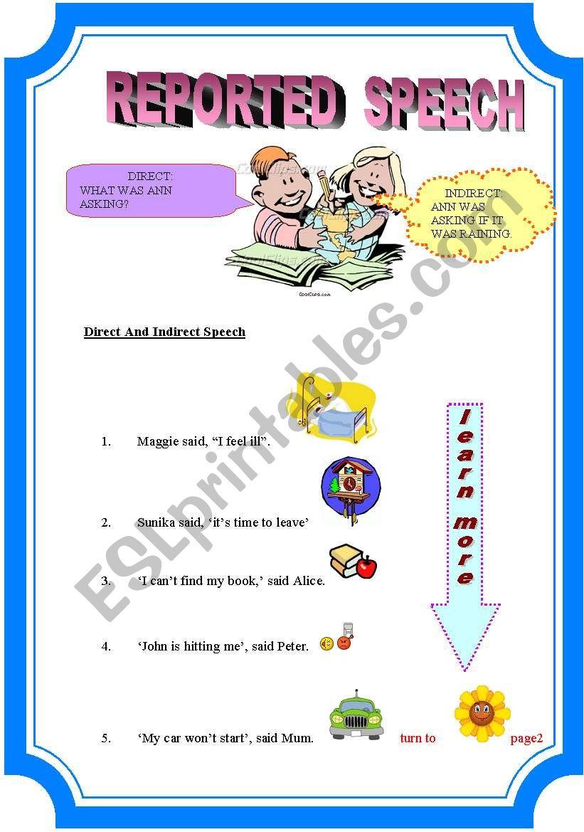 Reported Speech(17-8-08) worksheet