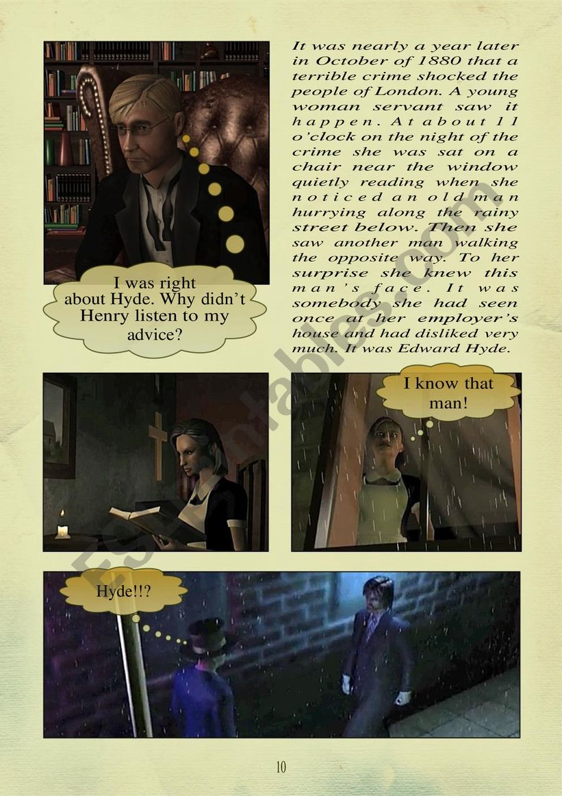 THE STORY OF DR. JEKYLL and MR. HYDE PART 2.  page 5 of 10