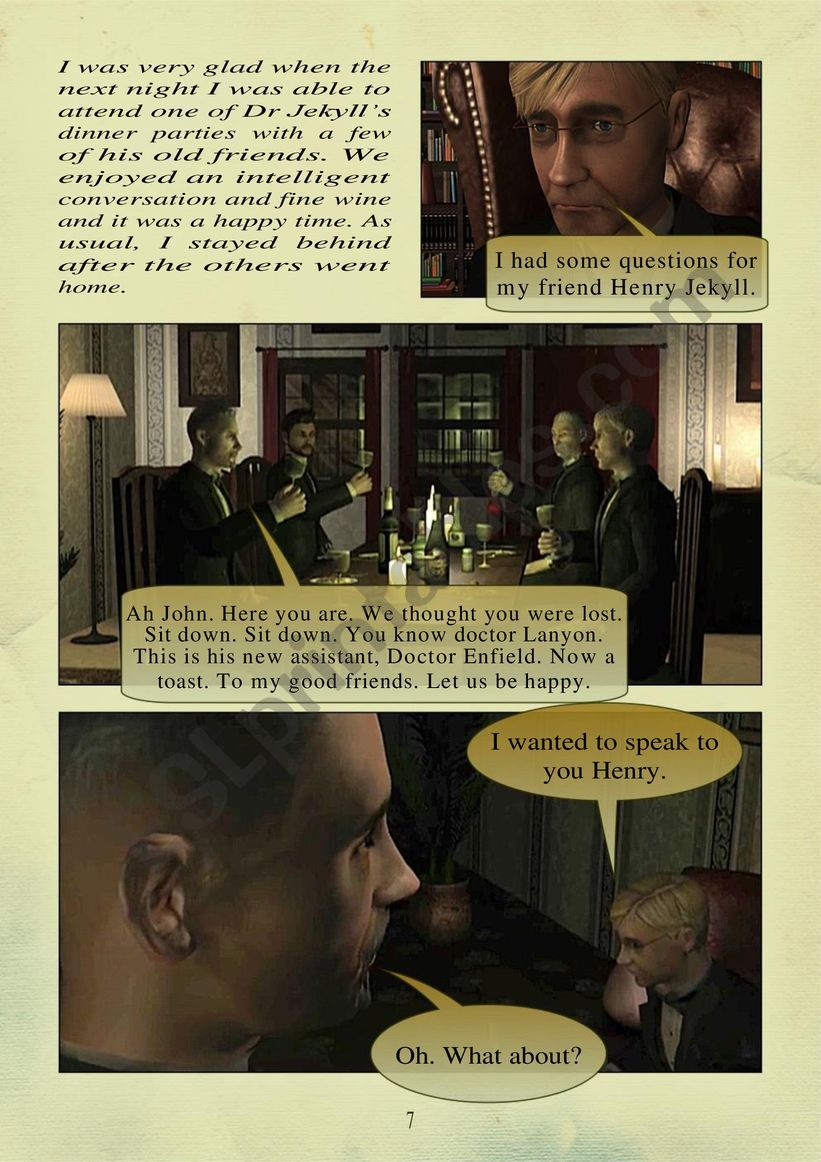 THE STORY OF DR. JEKYLL and MR. HYDE PART 2.  page 2 of 10