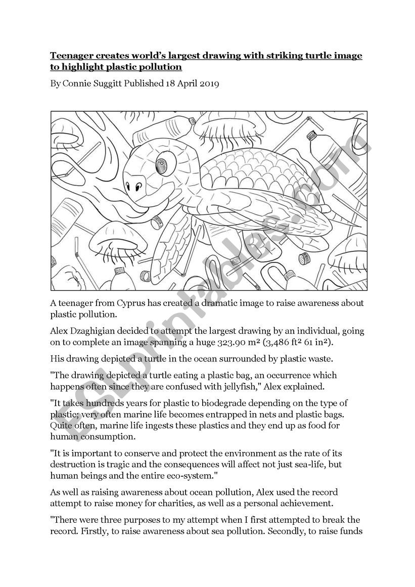 Reading comprehension: world´s largest drawing