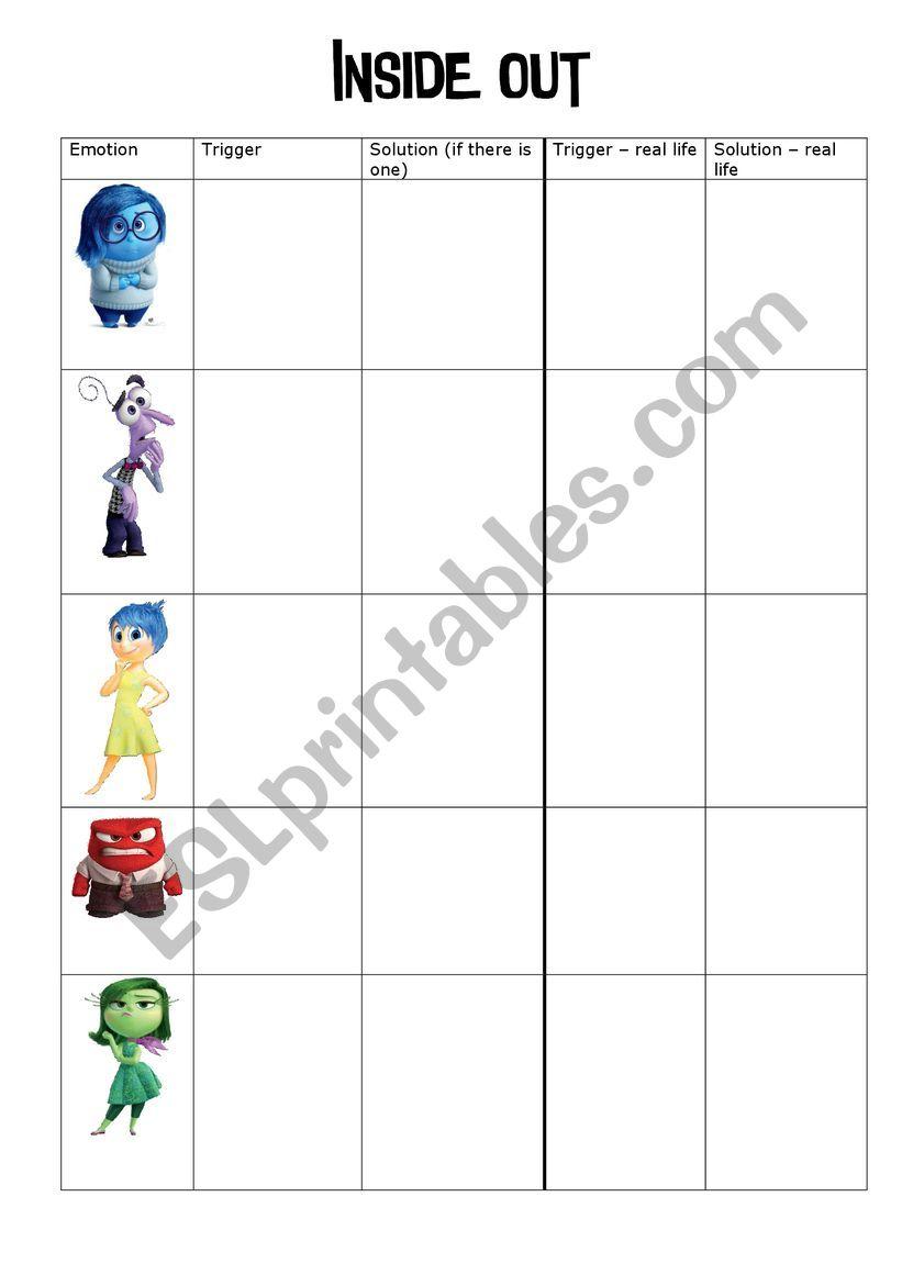Inside Out - worksheet worksheet