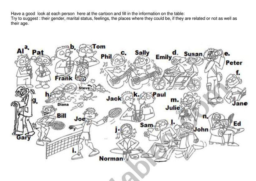 Vocabulary (describing people)
