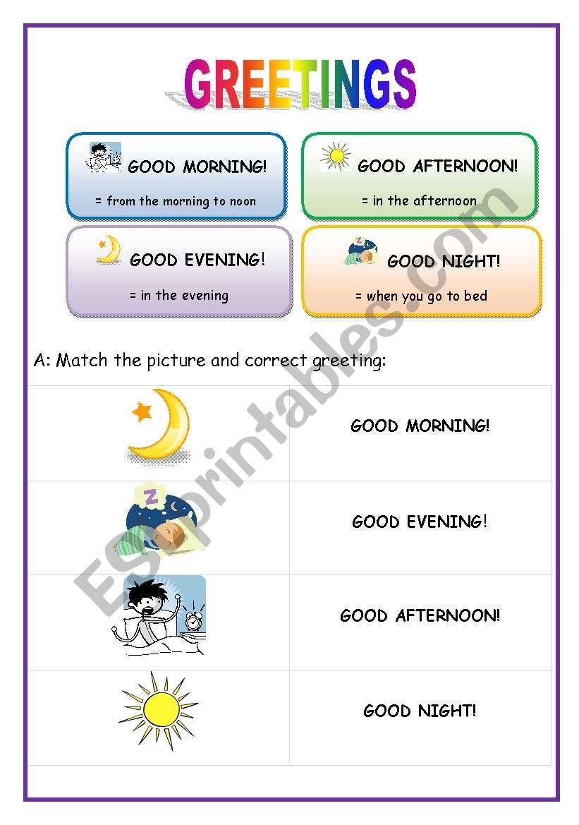 Greetings English For Beginners Esl Worksheet By Lucak F