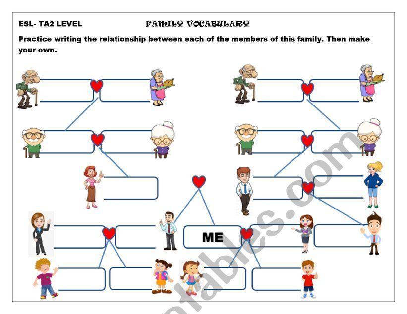 FAMILY VOCABULARY  worksheet