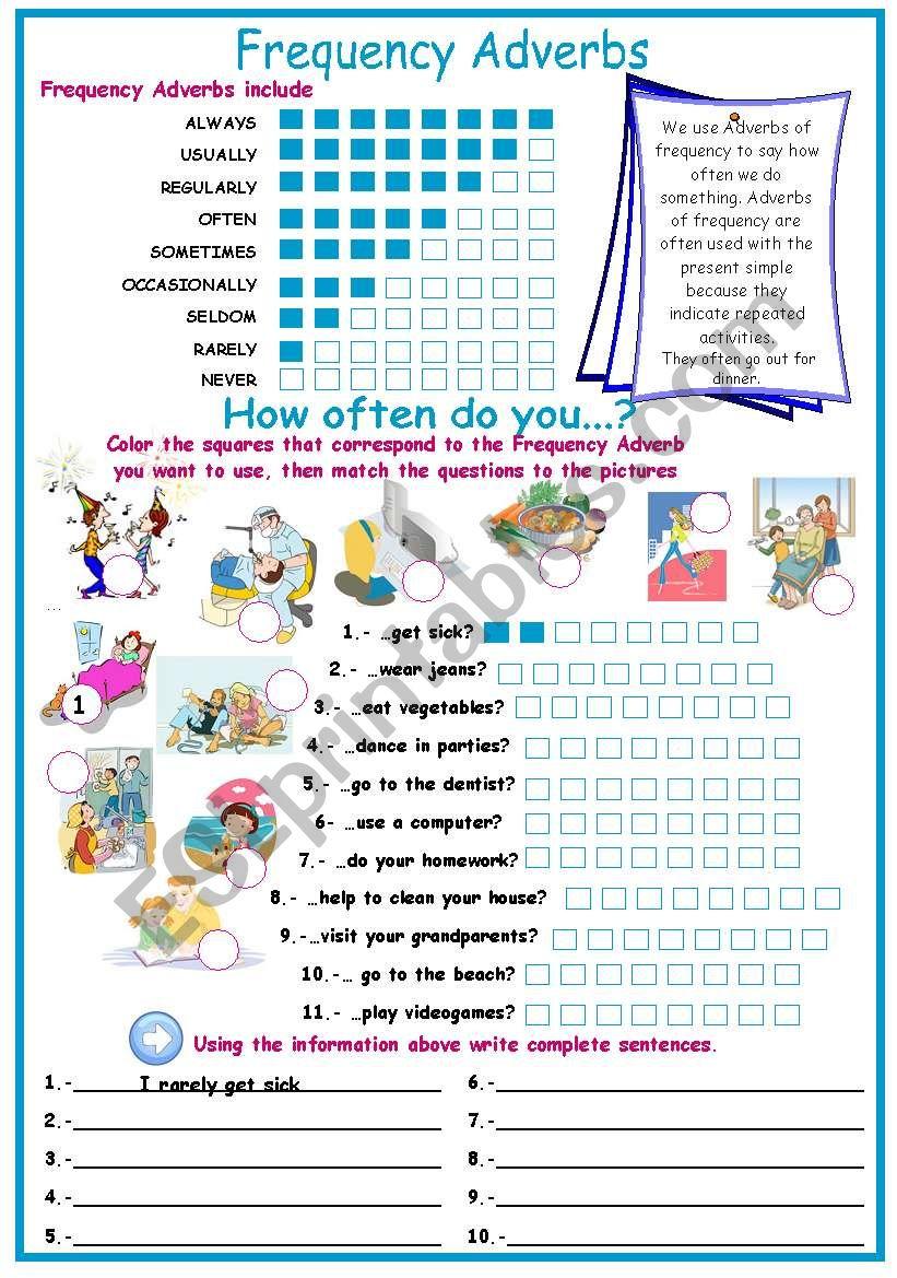 How often do you..? worksheet