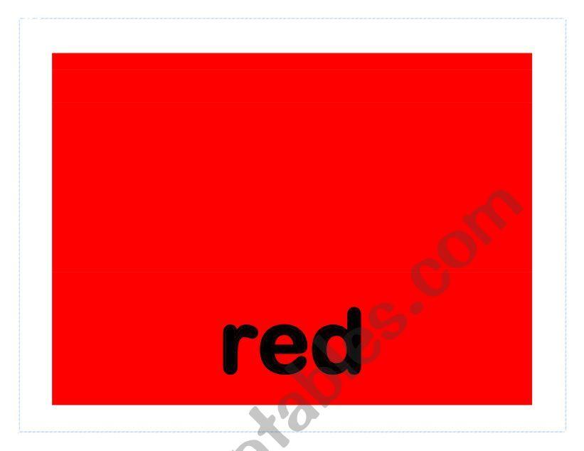 Colors Flashcards worksheet