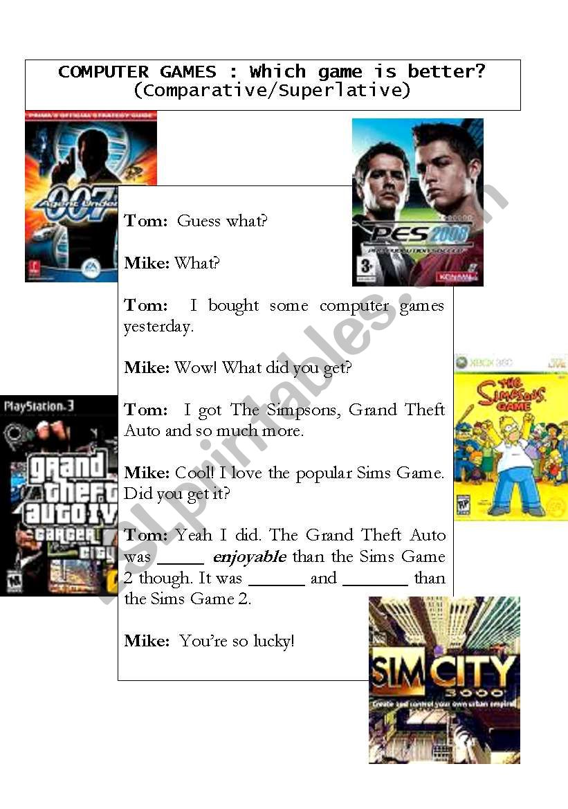 Which game is better? (Comparative/Superlative)