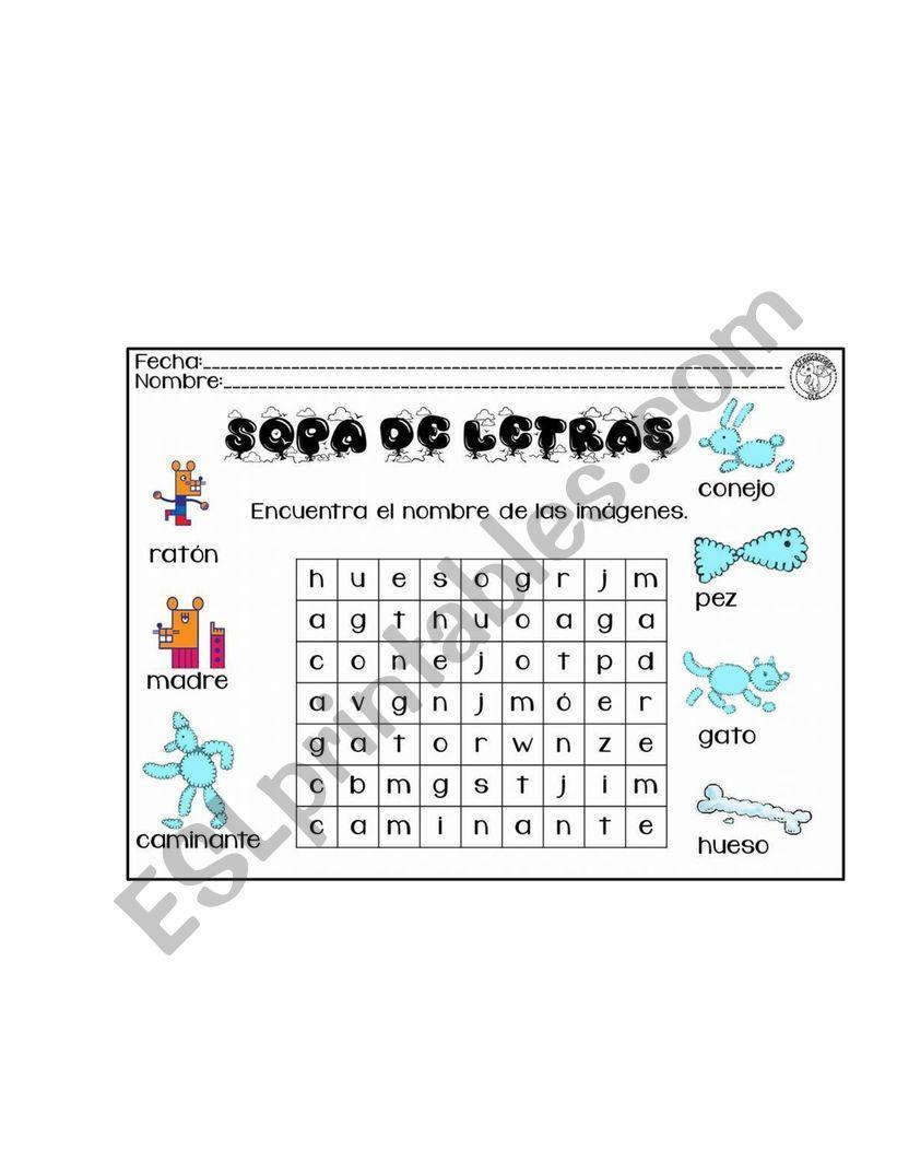 Activities for kids worksheet