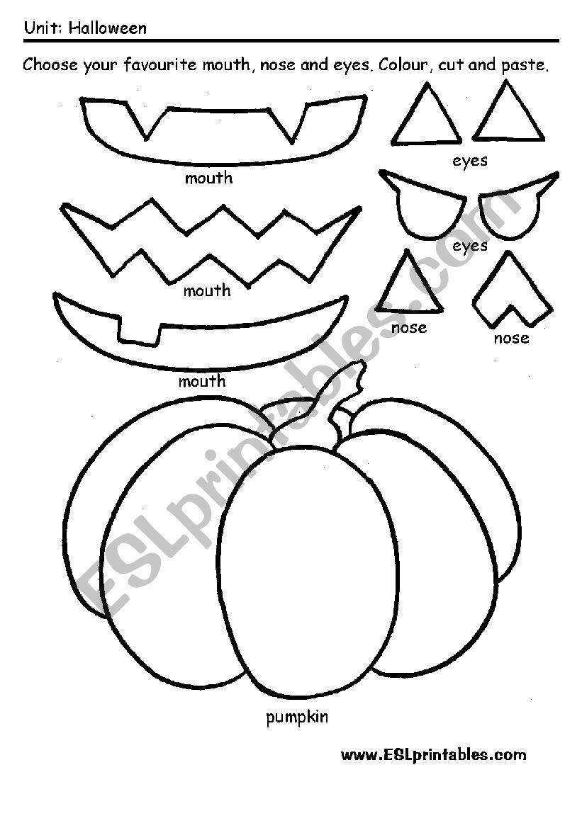 Carve a pumpkin worksheet