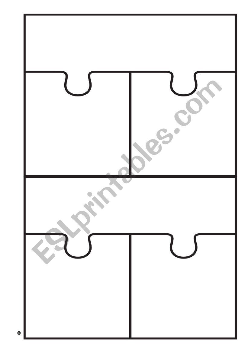3 way puzzle piece blank worksheet