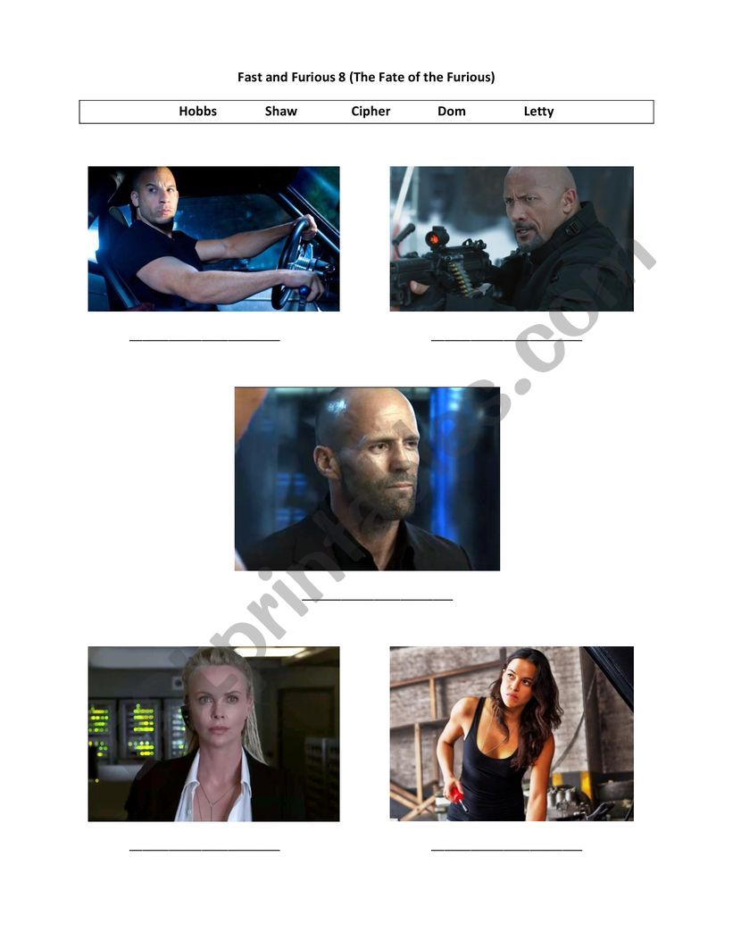 Movie - The Fate of the Furious (Fast and Furious 8)