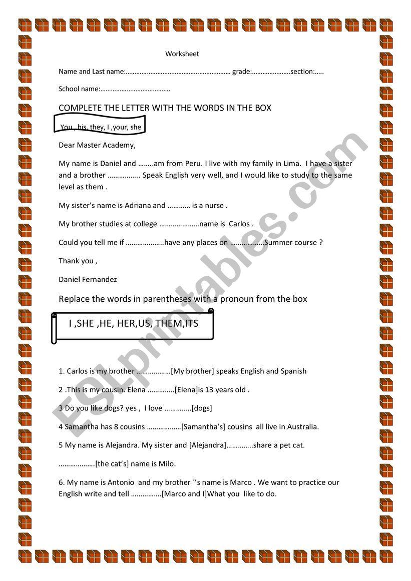 workshet worksheet