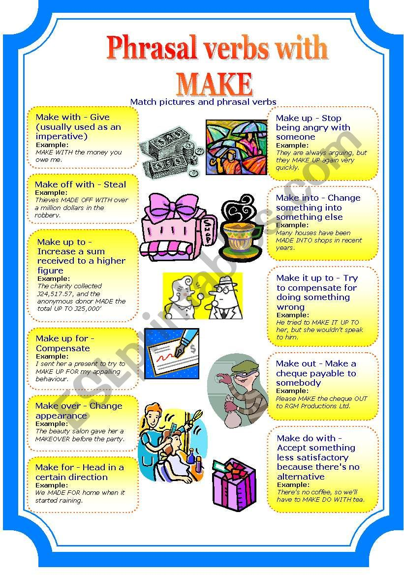 Phrasal verbs with MAKE worksheet