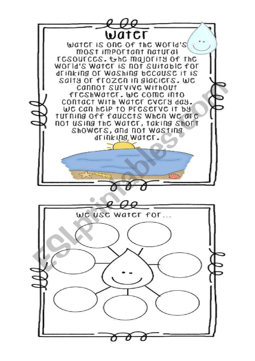 Water Esl Worksheet By Tifon