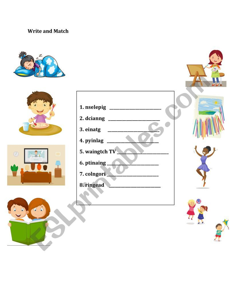 Activities worksheet