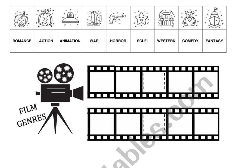Film Genres worksheet