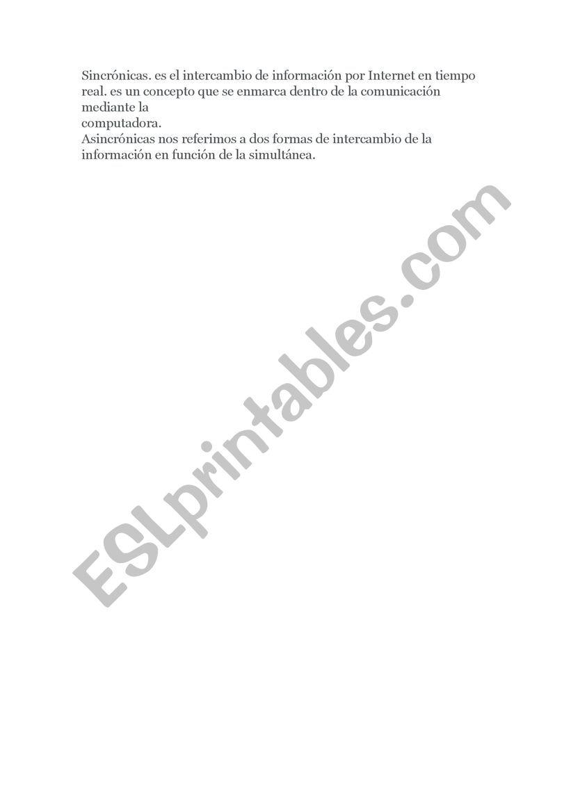 Alisson worksheet